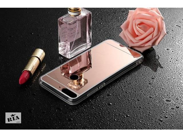 купить бу Чехол для Huawei Y7 2018 / Y7 Prime 2018 / Honor 7C PRO LND-L29 силикон зеркальный розовое золото в Києві
