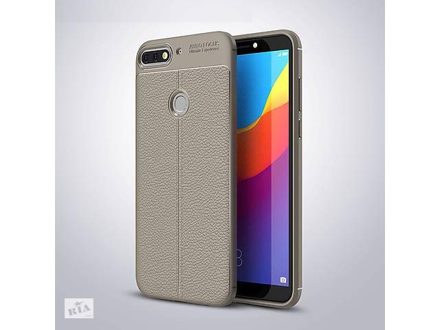 купить бу Чехол Huawei Y7 2018 / Y7 Prime 2018 / Honor 7C / Honor 7C Pro силикон Original Auto Focus Soft Touch серый в Києві