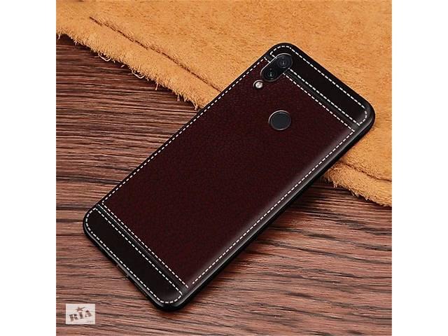Чехол Litchi для Asus ZenFone Max Pro (M2) ZB631KL силикон бампер с рифленой текстурой темно-коричневый- объявление о продаже  в Киеве