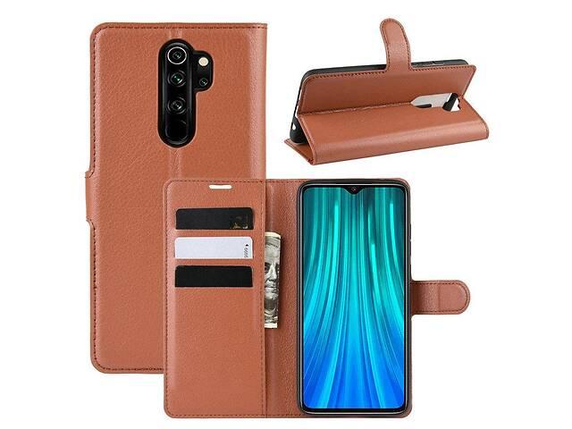 mobile accessories chekhol luxury dlya xiaomi redmi note 8 pro knyzhka korychnev  132986197m - Які чохли для смартфонів забезпечують найкращий захист?