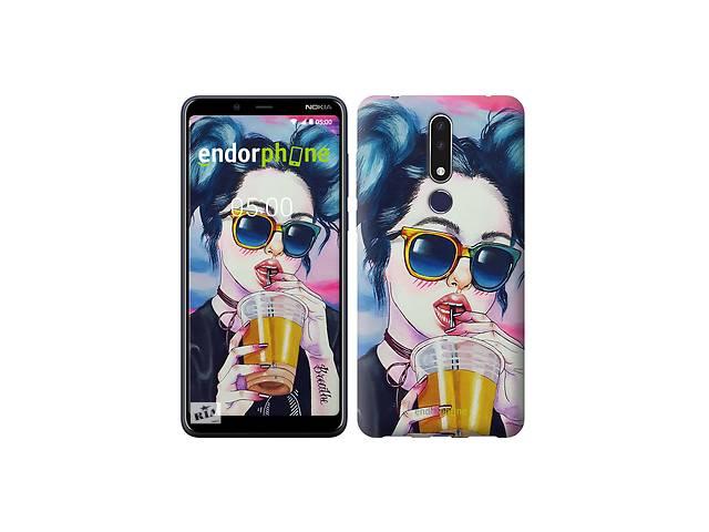 продам Чехол на Nokia 3.1 Plus Арт-девушка в очках 3994m-1607 бу в Одессе