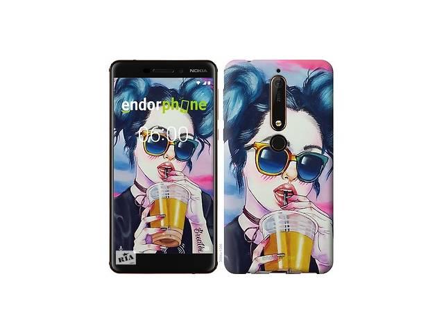 Чехол на Nokia 6 2018 Арт-девушка в очках 3994m-1386- объявление о продаже  в Одессе