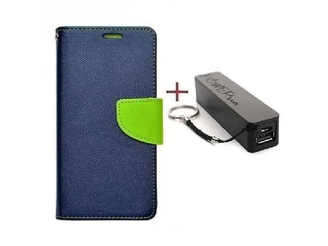 купить бу Комплект чехол книжка Goospery для HTC DESIRE 10 PRO синий + Внешний аккумулятор Powerbank 2600 mAh в Киеве
