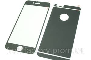 Стекло защитное цветное 2-х стор. IPhone 5/5s/SE:Black