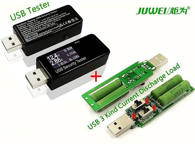 Usb  тестер  Juwej  j7-t с нагрузочным резистором