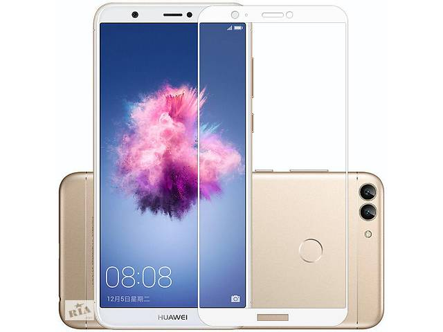Защитное стекло Huawei P Smart / Enjoy 7S / FIG-LX1 / FIG-LA1 / FIG-LX2 Full cover белый 0,26мм в упаковке