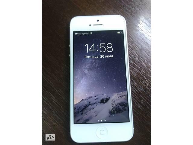 Apple iPhone 5 A1429 16ГБ LTE оригинал из США ! Неверлок ! Чистый ID (icloud ) Ios 10.3.4- объявление о продаже  в Киеве