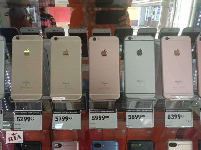купить бу iPhone 5S/6/6S/7 16/32/64Gb Neverlock коробка/зарядка/usb Гарантия в Полтаві