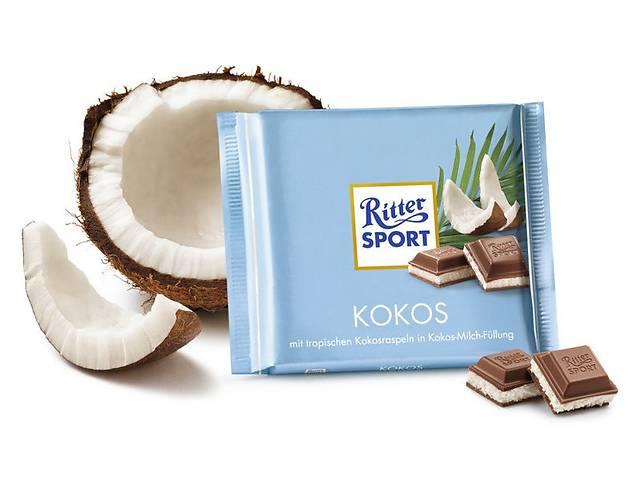 купить бу Молочный шоколад Ritter Sport скокосовой стружкой и кремом  в Харькове