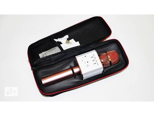 бу Микрофон Q9 портативный караоке с динамиком с чехлом (Розовый) в Хмельницькому