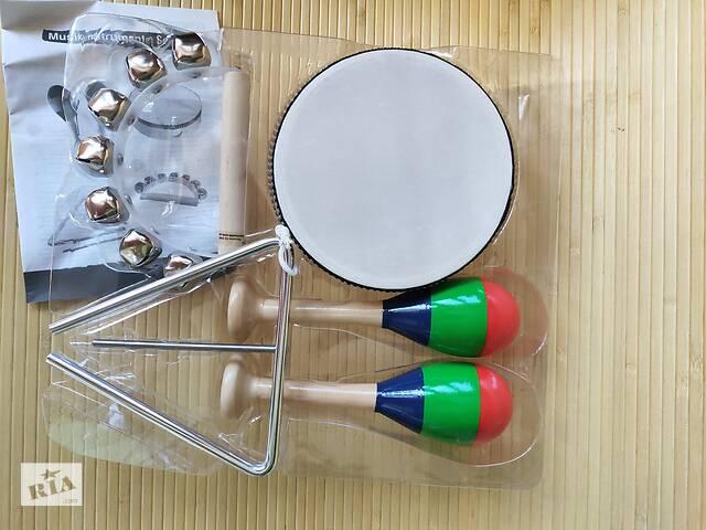 продам Набор музыкальных инструментов Германия: марокассы, бубен, металлофон, барабан тамтам бу в Одессе