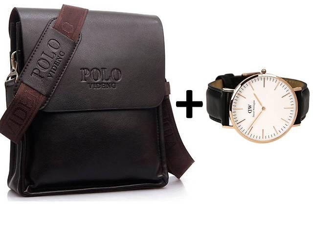 Чоловіча сумка через плече POLO VIdeng+Годинник в ПОДАРУНОК! Оригінал! eb953ce9e7824