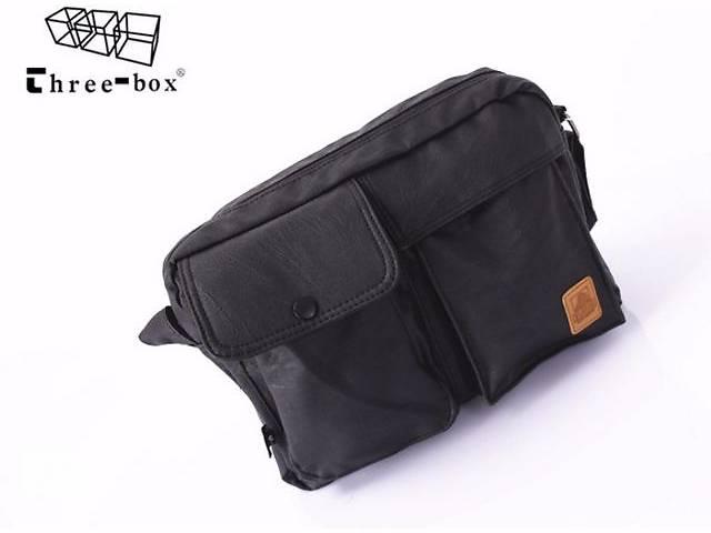 купить бу Мужская сумка с карманами в английском стиле ThreeBox в Киеве
