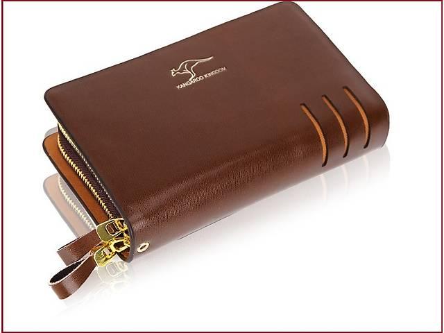 купить бу Мужской классический клатч в деловом стиле с двумя ручками.Подарок! в Киеве