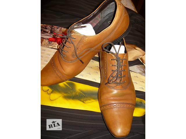Мужские кожаные повседневные туфли Clarks 42р.б/у.- объявление о продаже  в Николаеве