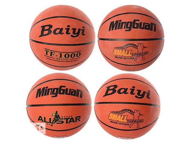 продам Мяч баскетбольный VA-0029 (30шт) размер 7, резина, 580-600г, 8панелей, 4вида бу в Ровно