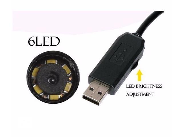 Мини камера Ендоскоп водонепроницаемый USB 2 метров 7мм. 6 светодиодов- объявление о продаже  в Киеве