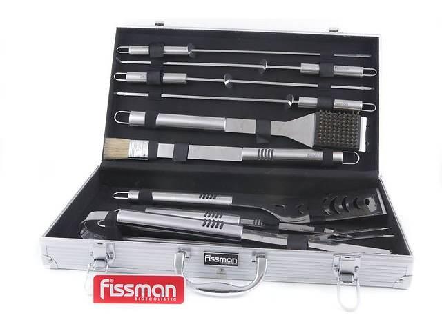 бу Набор инструментов для барбекю Fissman 10 предметов в чемодане (BQ-1014.10) в Киеве