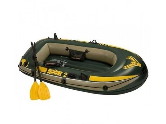 Надувная лодка (2-х местная) Intex 68347 Seahawk 2 + пластиковые весла и насос (236 x 114 x 41 cm)- объявление о продаже  в Львове