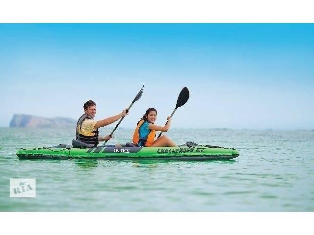 продам Надувная лодка-байдарка Intex Chalenger K2 68306 (351 x 76 x 38 cm) бу в Львове