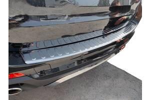 Накладка на задний бампер (Carmos) BMW X5 F-15 2013-2018 гг. / Накладки на задний бампер БМВ X5 F-15