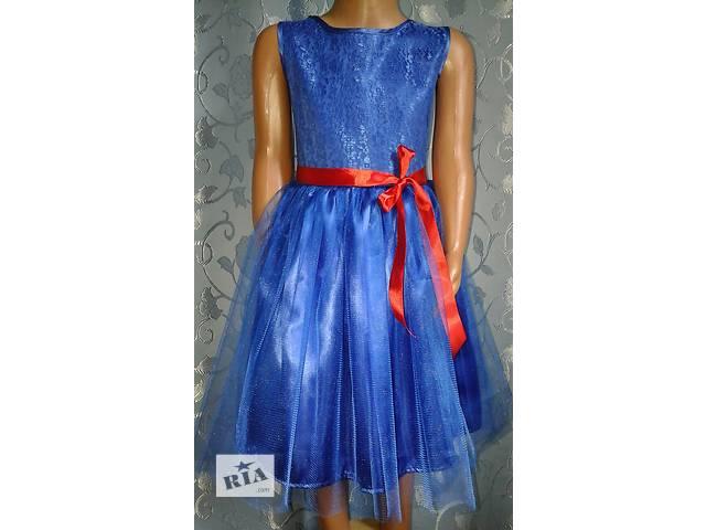 купить бу Нарядное детское платье, синее, модель № 22 в Хмельницком
