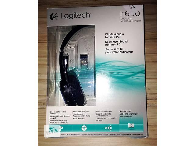 купить бу Навушники Logitech H600 бездротові гарнітура комп ютерна нова в  Києві f902d2759d57b