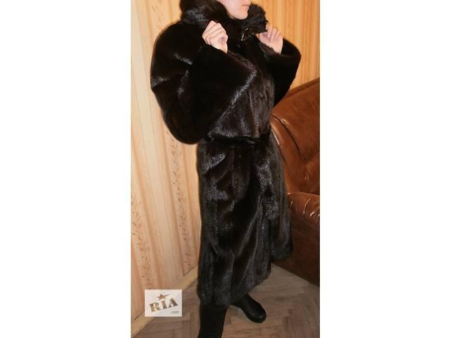купить бу Новая, роскошная норковая шуба с капюшоном в Киеве