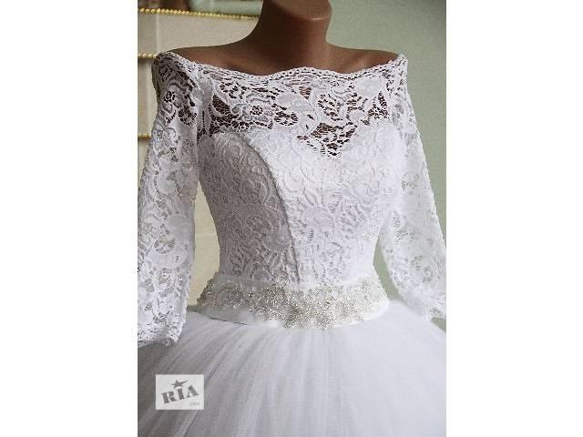 92f396b7598ecb продам Нове, ніжна весільна сукня з рукавами 3/4 бу в Сімферополі