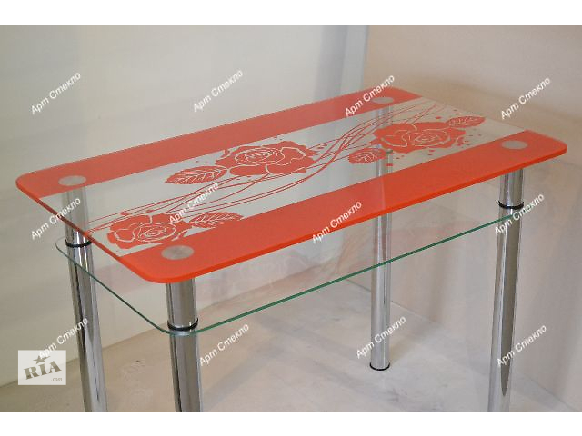 купить бу Новые обеденные столы из стекла. Разные размеры и цвета в Дружковке