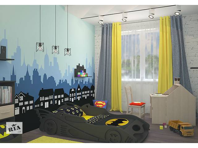 купить бу Новинка кровать машина Бетмобиль из Смереки карпатской для ваших деток в Киеве