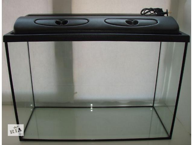 купить бу Новый комплект: аквариум 155л + крышка с освещением. Пересылка из днепропетровска в Дніпрі (Дніпропетровськ)