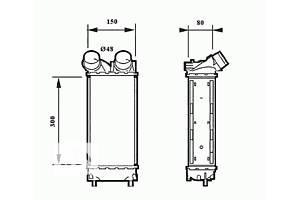 Новые Радиаторы интеркуллера Peugeot Partner груз.