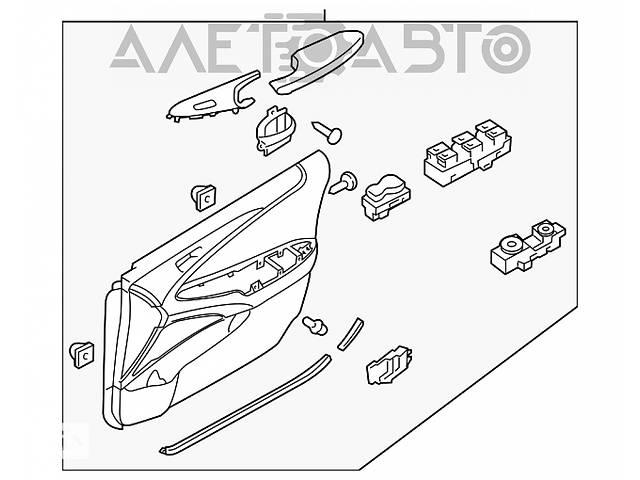 купить бу Обшивка двери (карточка) перед прав Hyundai Sonata 11-15 серая 82302-3Q040-RAS разборка Алето Авто в Киеве