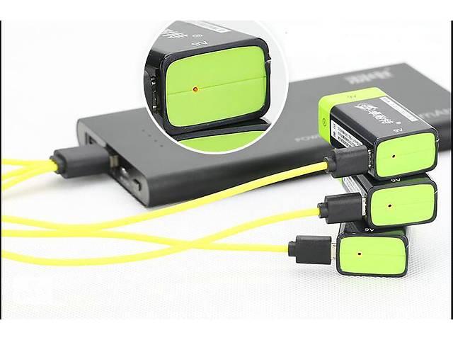 "продам Аккумулятор батарейка ""Крона"" 9 вольт ZNTER 9V (400Mah) microUSB 1шт бу в Слов'янську"