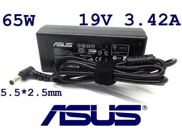 купить бу Блок питания для ноутбука Asus 19V 3.42A 5.5*2.5mm 65W(High Quality) Art. opto-499974345 в Киеве