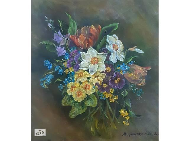 """купить бу Картина маслом от автора """"Весенние цветы"""" в Одессе"""