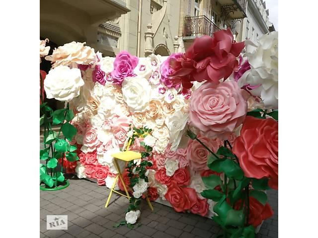 Квіти для фотозони, для декору приміщення- объявление о продаже  в Львове