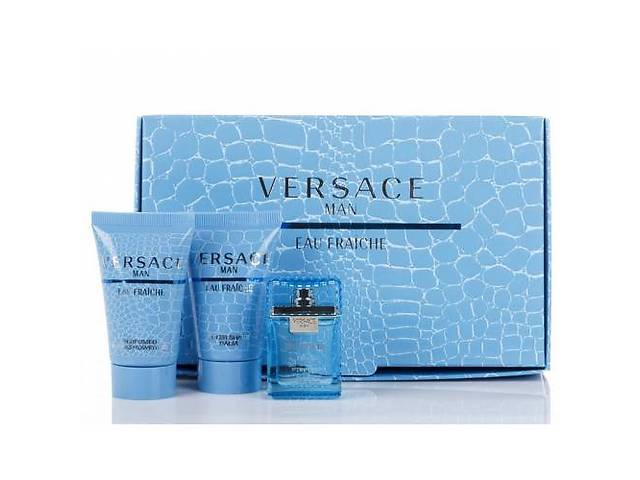Versace Eau Fraiche Men Set (Edt 5 Ml+25 S\G +25 B\L )