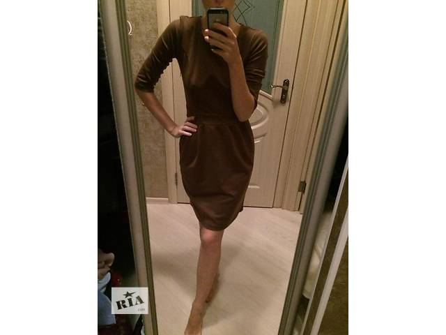 бу Платье осень-зима,шоколад в Броварах