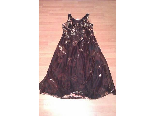 купить бу Платье вечернее с накидкой из блестящей ткани в Сумах