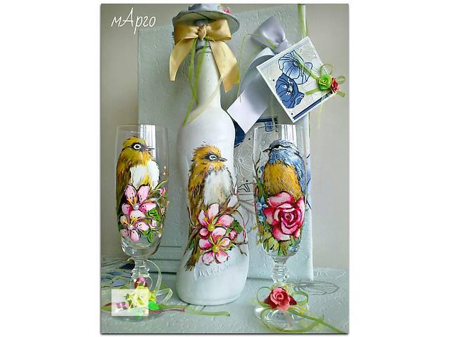 купить бу Подарочный сувенирный свадебный набор для напитков в Запорожье