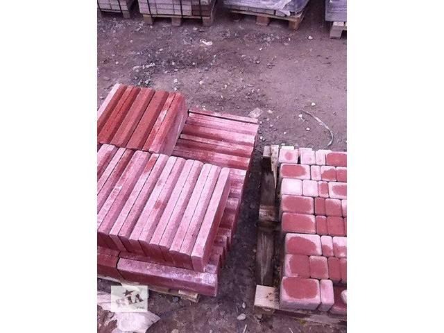 Поребрик серый и красный, бордюр садовый- объявление о продаже  в Киеве
