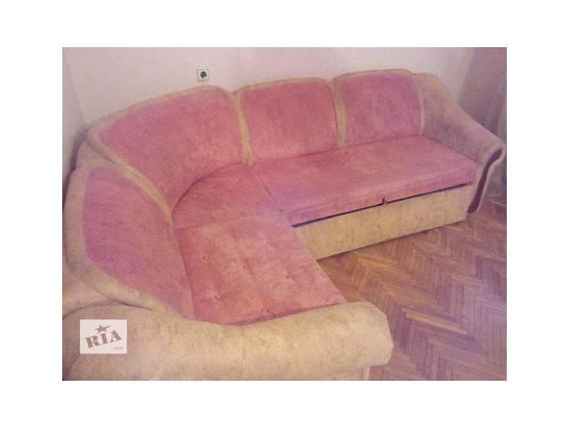 продам Продам мягкий  уголок трансформирующийся в двухспальную кровать бу в Виннице