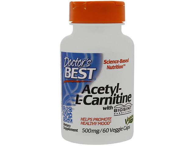 Ацетил карнитин Doctor's Best 500 мг 60 капсул (509)- объявление о продаже  в Киеве
