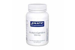 Ацетил-L-карнитин Pure Encapsulations 500 мг 60 капсул (20002)