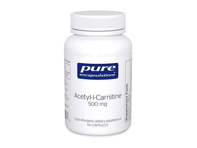 бу Ацетил-L-карнитин Pure Encapsulations 500 мг 60 капсул (20002) в Киеве