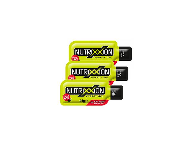 купить бу Энергетический гель Nutrixxion Energy Gel с кофеином (3 шт.) Cola-Lemon (440077) в Львове