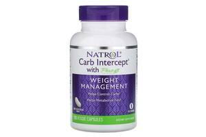 Перехватчик Углеводов Фаза 2, Carb Intercept с Phase 2 Carb Controller, Natrol, 120 растительных капсул
