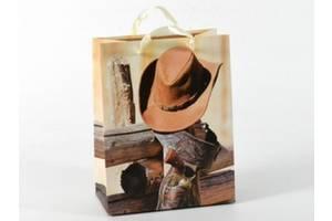 Подарочный пакет Дикий Запад 23см
